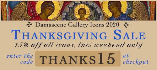 Shop Damascene Gallery's Thanksgiving Icon Sale!